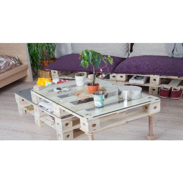 Transformer une palette en meuble de rangement for Meuble jardin palette