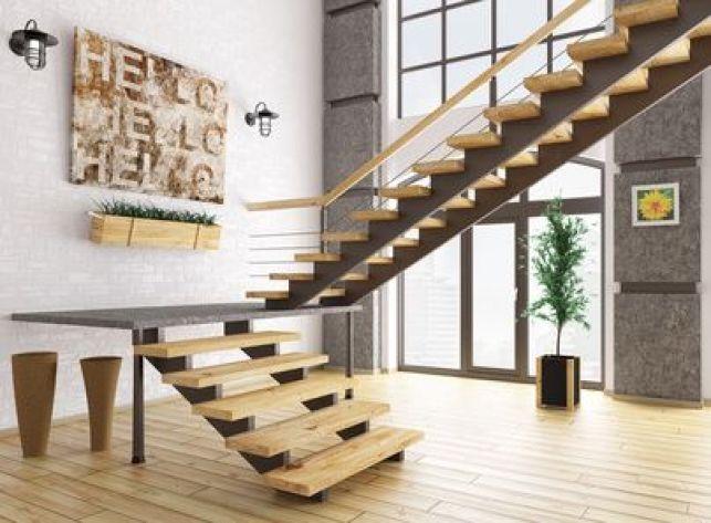 Un escalier sans contremarches