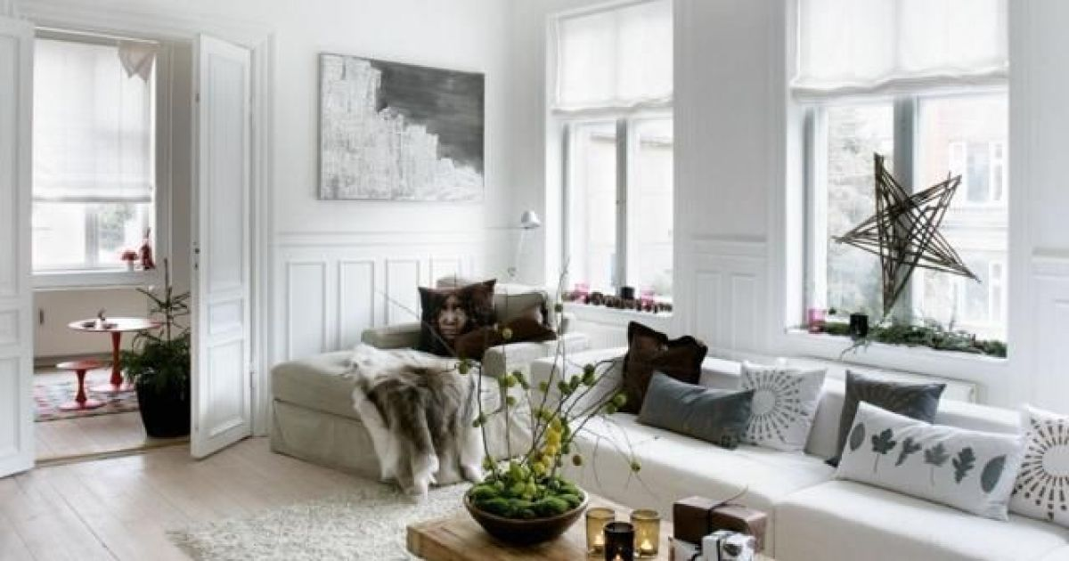 Un salon la d co d inspiration scandinave - Deco salon cocooning ...
