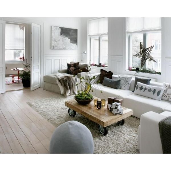 Un salon la d co d inspiration scandinave - Idee deco salon scandinave ...