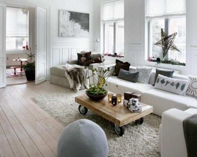 Un salon à la déco d'inspiration scandinave