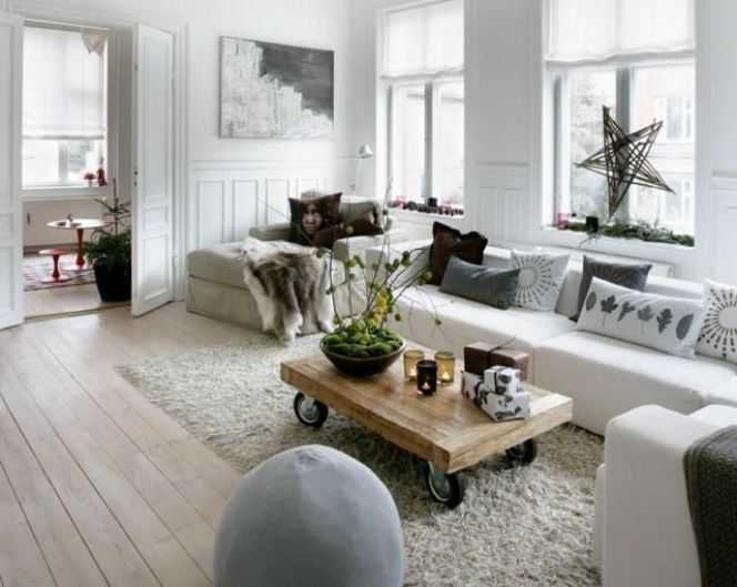 Un salon la d co d inspiration scandinave - Inspiration deco salon ...