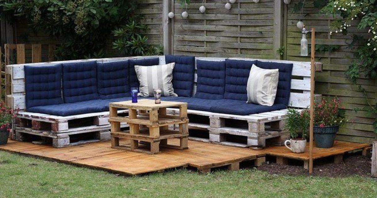 Un salon de jardin en palettes de bois - Creer son salon de jardin avec des palettes ...