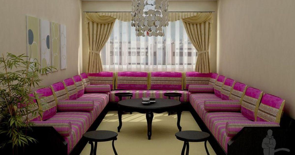 Un salon marocain d co et mobilier for Peinture salon maroc violet