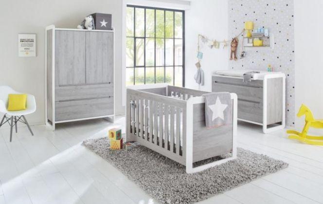 Une chambre grise avec quelques touches de jaune allant pour un garçon comme pour une fille. © Etikolo
