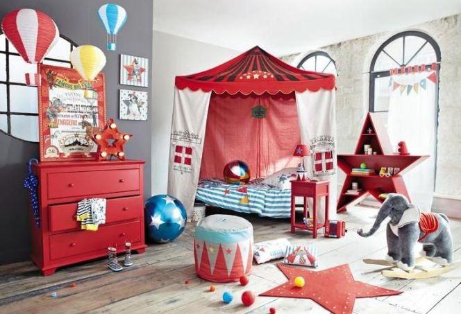 Une chambre pour enfant sur le thème du cirque© Maisons du Monde