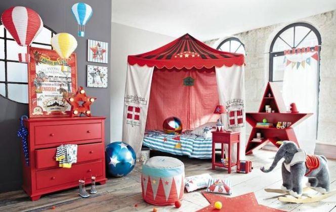 Une chambre pour enfant sur le thème du cirque © Maisons du Monde
