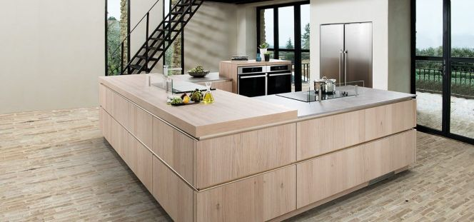 notre s lection des plus belles cuisines en bois une cuisine design en u. Black Bedroom Furniture Sets. Home Design Ideas