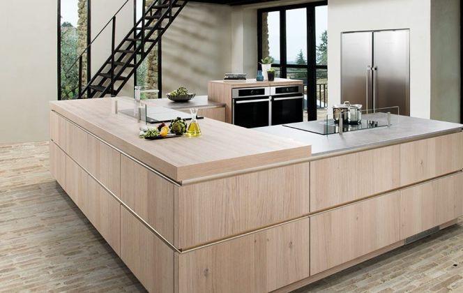 Une cuisine design en U !  © Cuisine Schmidt