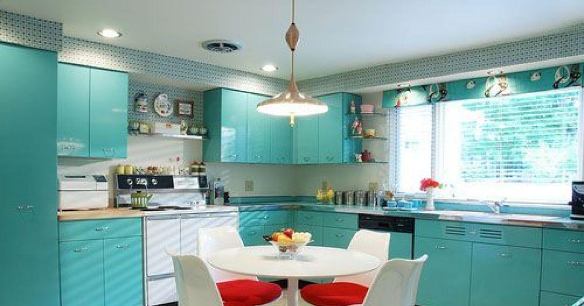 Une cuisine en formica inspiration sixties ann es 60 for Deco cuisine annee 60