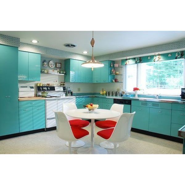 Une cuisine en formica inspiration sixties ann es 60 for Table de cuisine formica