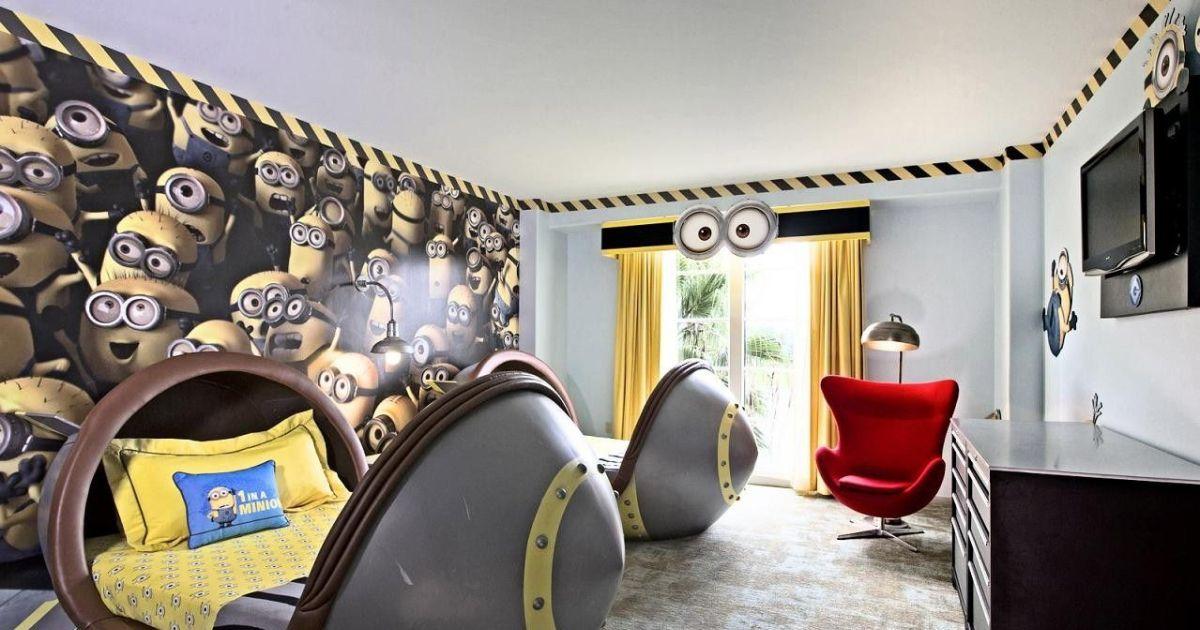 Une d co jaune minions maison chambre enfants for Accessoire deco jaune