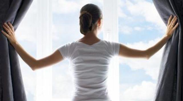 Une fenêtre avec vitrage chauffant