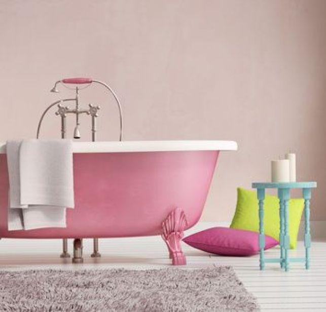 Une salle de bains à l'esprit rétro