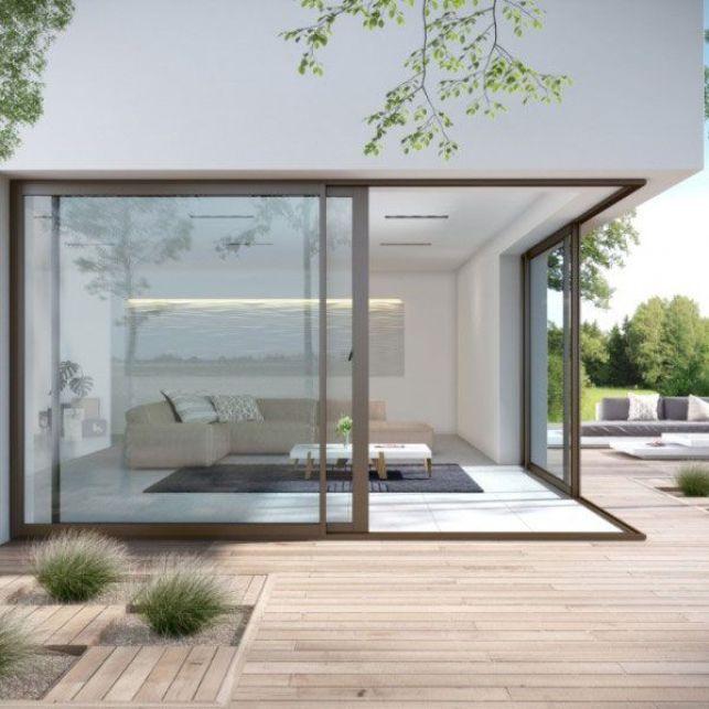 Positionnez vos portes coulissantes en angle pour plus de modernité
