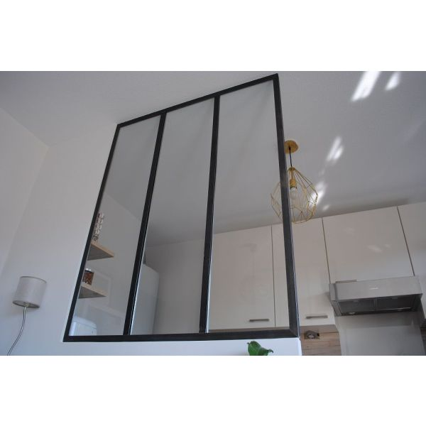 pose d une verriere d interieur verrire duintrieur duangle style atelier artiste verriere. Black Bedroom Furniture Sets. Home Design Ideas