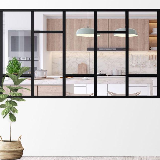Une verrière design pour habiller une séparation de pièce